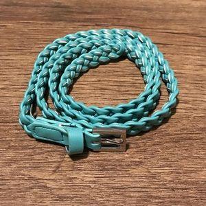 H&M Teal Braided Belt